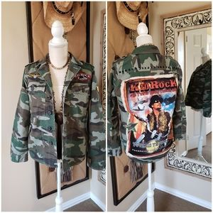 Green Military Camo Jacket Upcycled & Unique